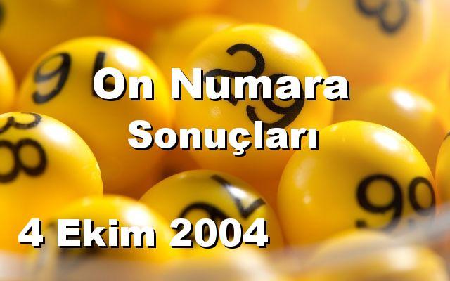 On Numara detay bilgiler 04/10/2004