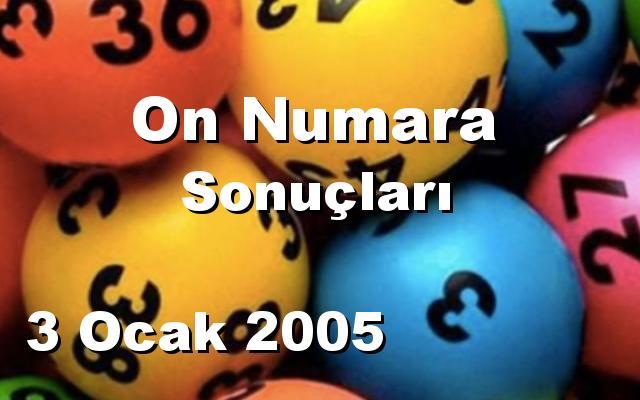 On Numara detay bilgiler 03/01/2005