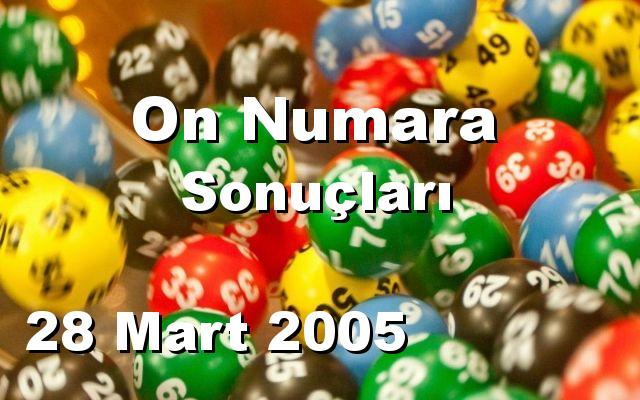 On Numara detay bilgiler 28/03/2005
