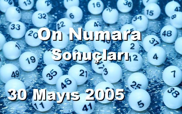 On Numara detay bilgiler 30/05/2005