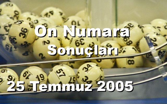 On Numara detay bilgiler 25/07/2005