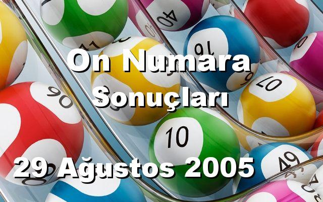On Numara detay bilgiler 29/08/2005