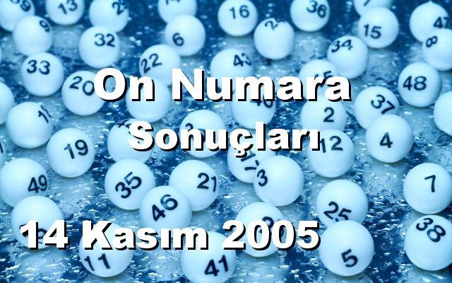 On Numara detay bilgiler 14/11/2005