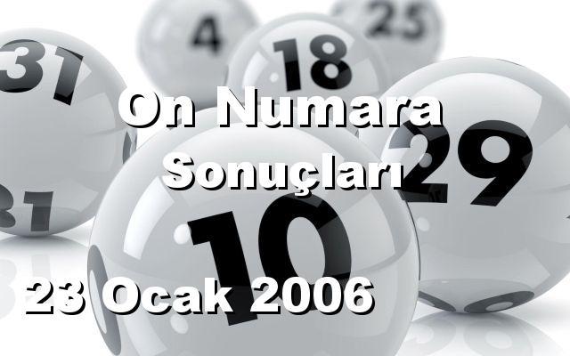 On Numara detay bilgiler 23/01/2006