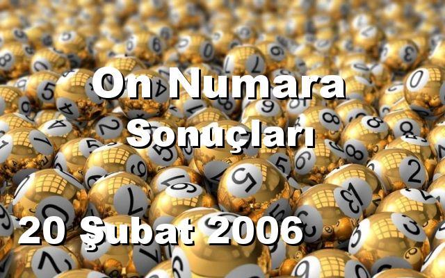 On Numara detay bilgiler 20/02/2006