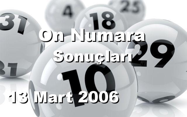 On Numara detay bilgiler 13/03/2006