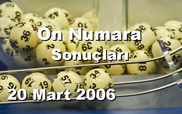 On Numara detay bilgiler 20/03/2006
