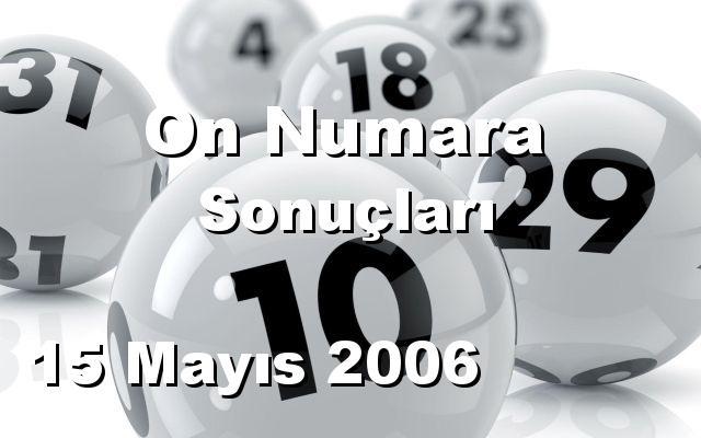 On Numara detay bilgiler 15/05/2006