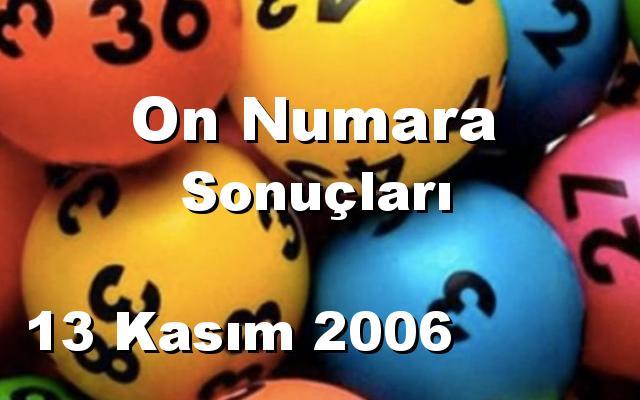 On Numara detay bilgiler 13/11/2006