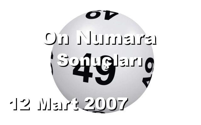 On Numara detay bilgiler 12/03/2007