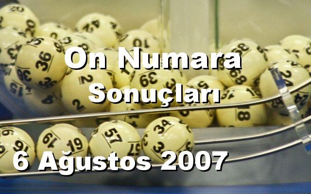 On Numara detay bilgiler 06/08/2007