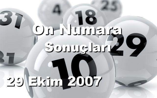 On Numara detay bilgiler 29/10/2007