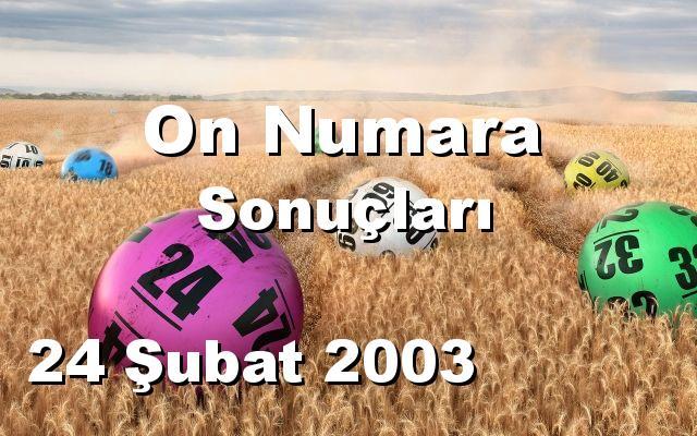 On Numara detay bilgiler 24/02/2003