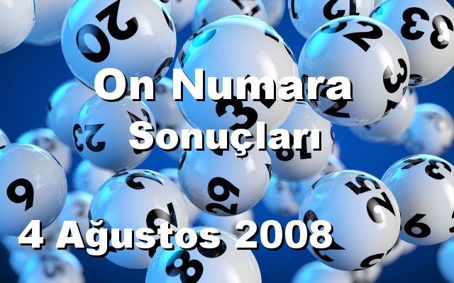 On Numara detay bilgiler 04/08/2008