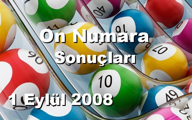 On Numara detay bilgiler 01/09/2008