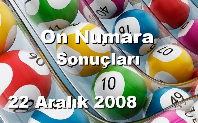 On Numara detay bilgiler 22/12/2008