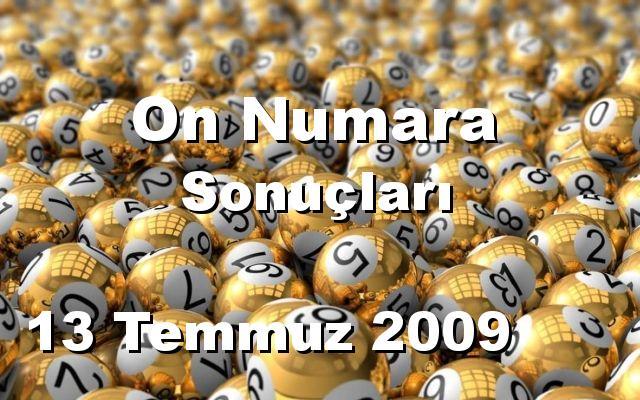 On Numara detay bilgiler 13/07/2009