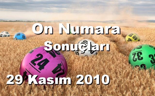 On Numara detay bilgiler 29/11/2010