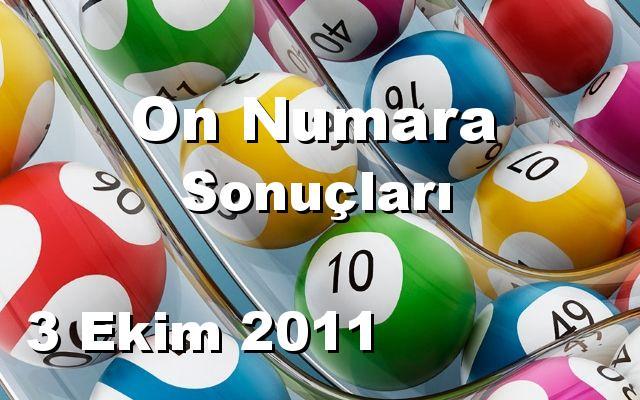 On Numara detay bilgiler 03/10/2011