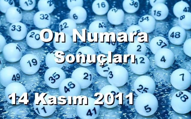 On Numara detay bilgiler 14/11/2011