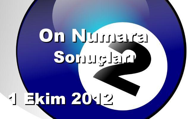 On Numara detay bilgiler 01/10/2012