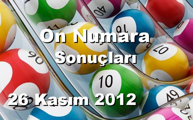 On Numara detay bilgiler 26/11/2012