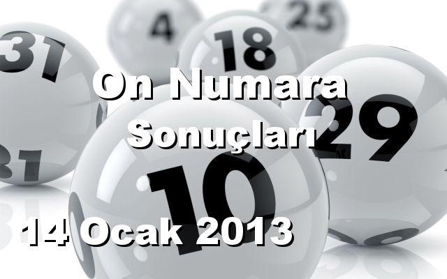 On Numara detay bilgiler 14/01/2013