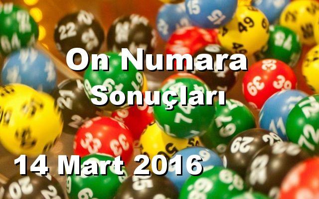 On Numara detay bilgiler 14/03/2016