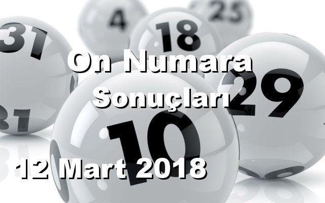 On Numara detay bilgiler 12/03/2018