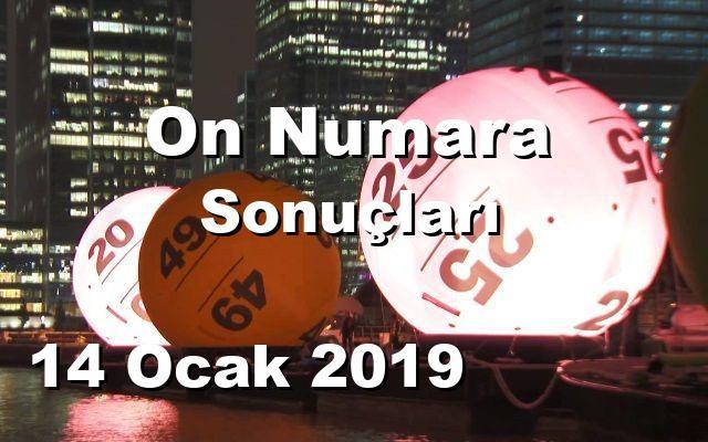 On Numara detay bilgiler 14/01/2019