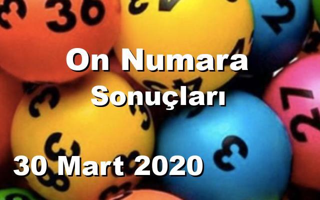 On Numara detay bilgiler 30/03/2020