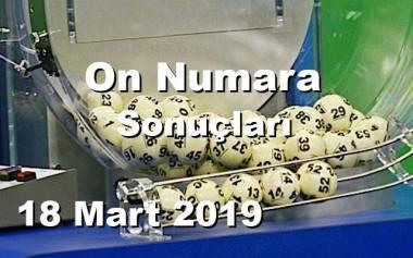 On Numara 18 Mart 2019