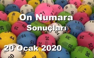 On Numara 20 Ocak 2020