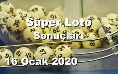 Süper Loto 16 Ocak 2020