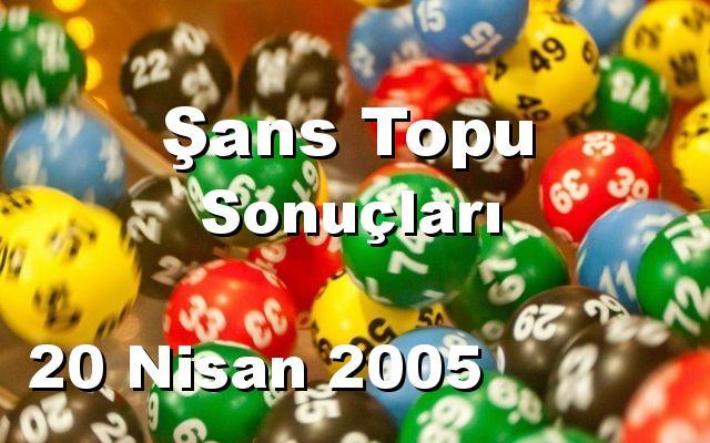 Şans Topu detay bilgiler 20/04/2005