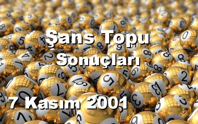 Şans Topu detay bilgiler 07/11/2001