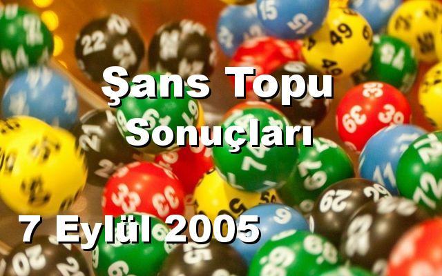 Şans Topu detay bilgiler 07/09/2005