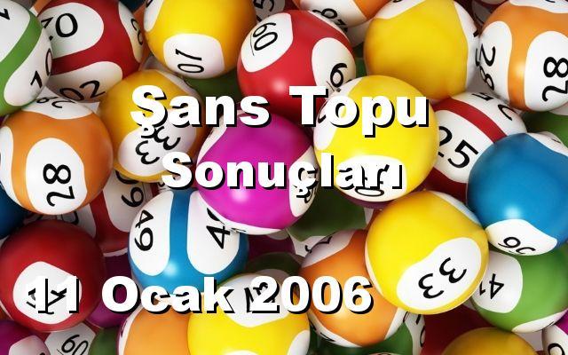 Şans Topu detay bilgiler 11/01/2006