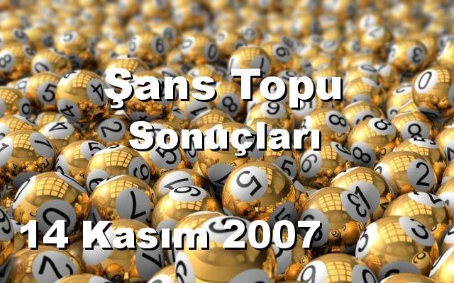 Şans Topu detay bilgiler 14/11/2007