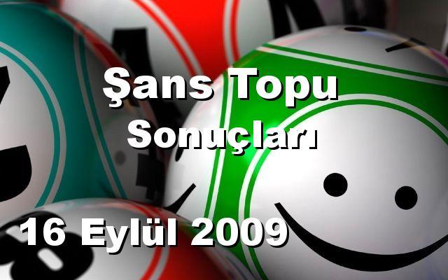 Şans Topu detay bilgiler 16/09/2009