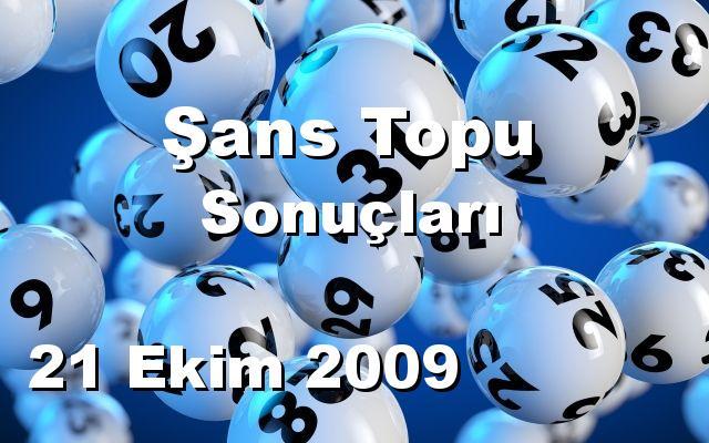 Şans Topu detay bilgiler 21/10/2009