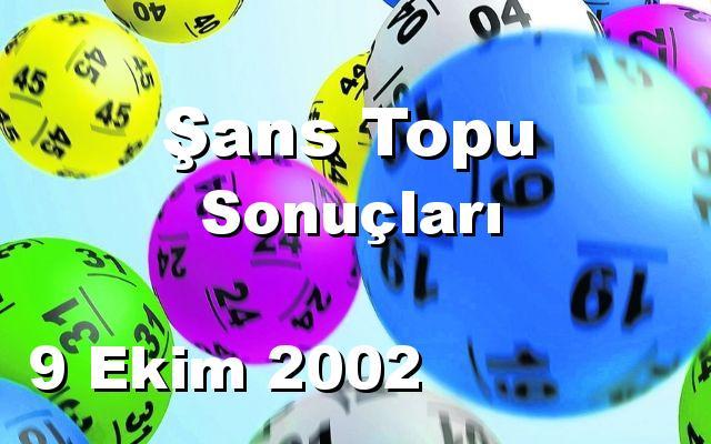 Şans Topu detay bilgiler 09/10/2002