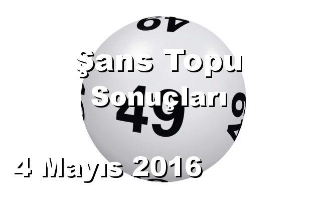 Şans Topu detay bilgiler 04/05/2016