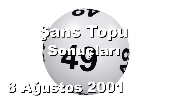 Şans Topu detay bilgiler 08/08/2001