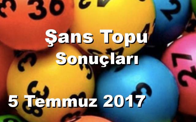 Şans Topu detay bilgiler 05/07/2017