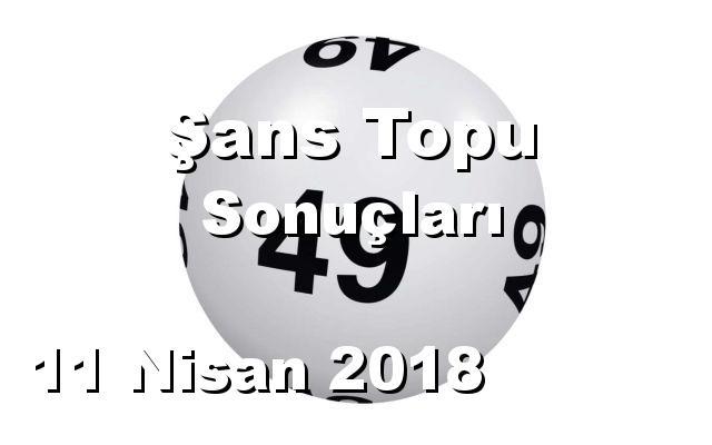 Şans Topu detay bilgiler 11/04/2018