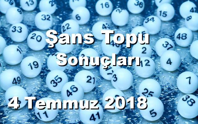 Şans Topu detay bilgiler 04/07/2018