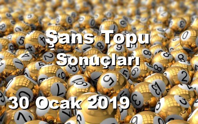 Şans Topu detay bilgiler 30/01/2019