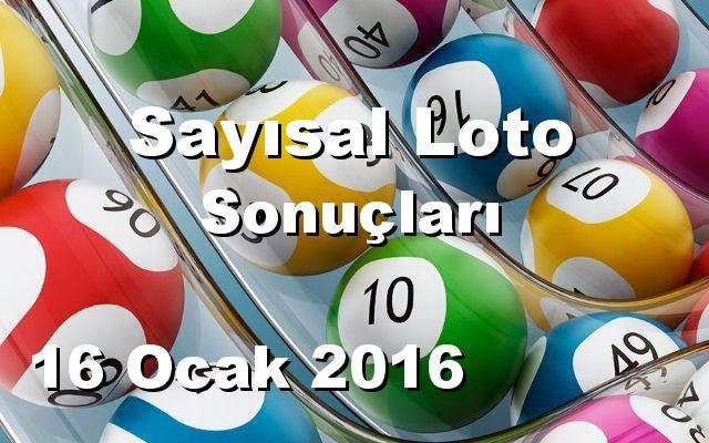 Sayısal Loto detay bilgiler 16/01/2016