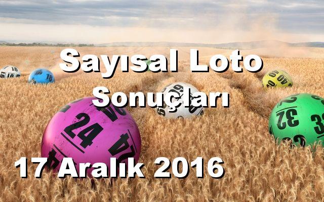 Sayısal Loto detay bilgiler 17/12/2016